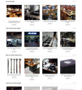 thiết kế web bếp