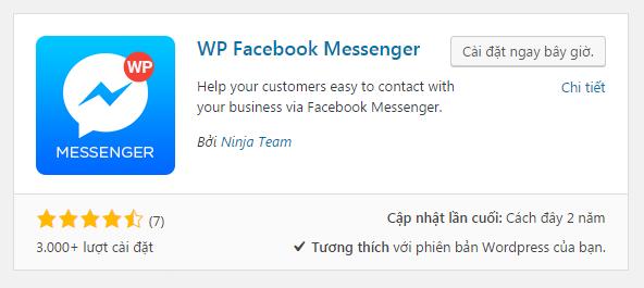 Hướng dẫn chi tiết tích hợp Facebook Chat vào website WordPress