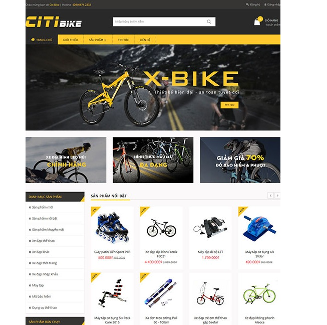 Thiết kế website bán đồ thể thao