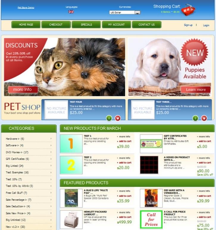 Thiết kế web thú cưng