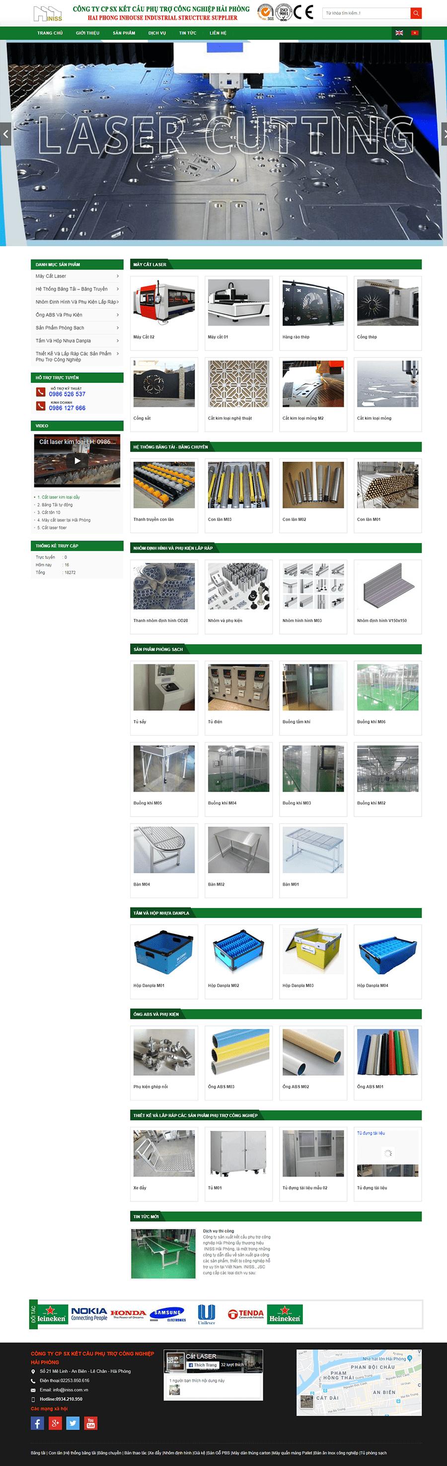 Thiết kế web bán kết cấu phụ trợ