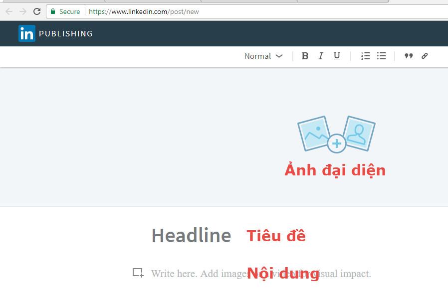 hướng dẫn viết bài trên linkind