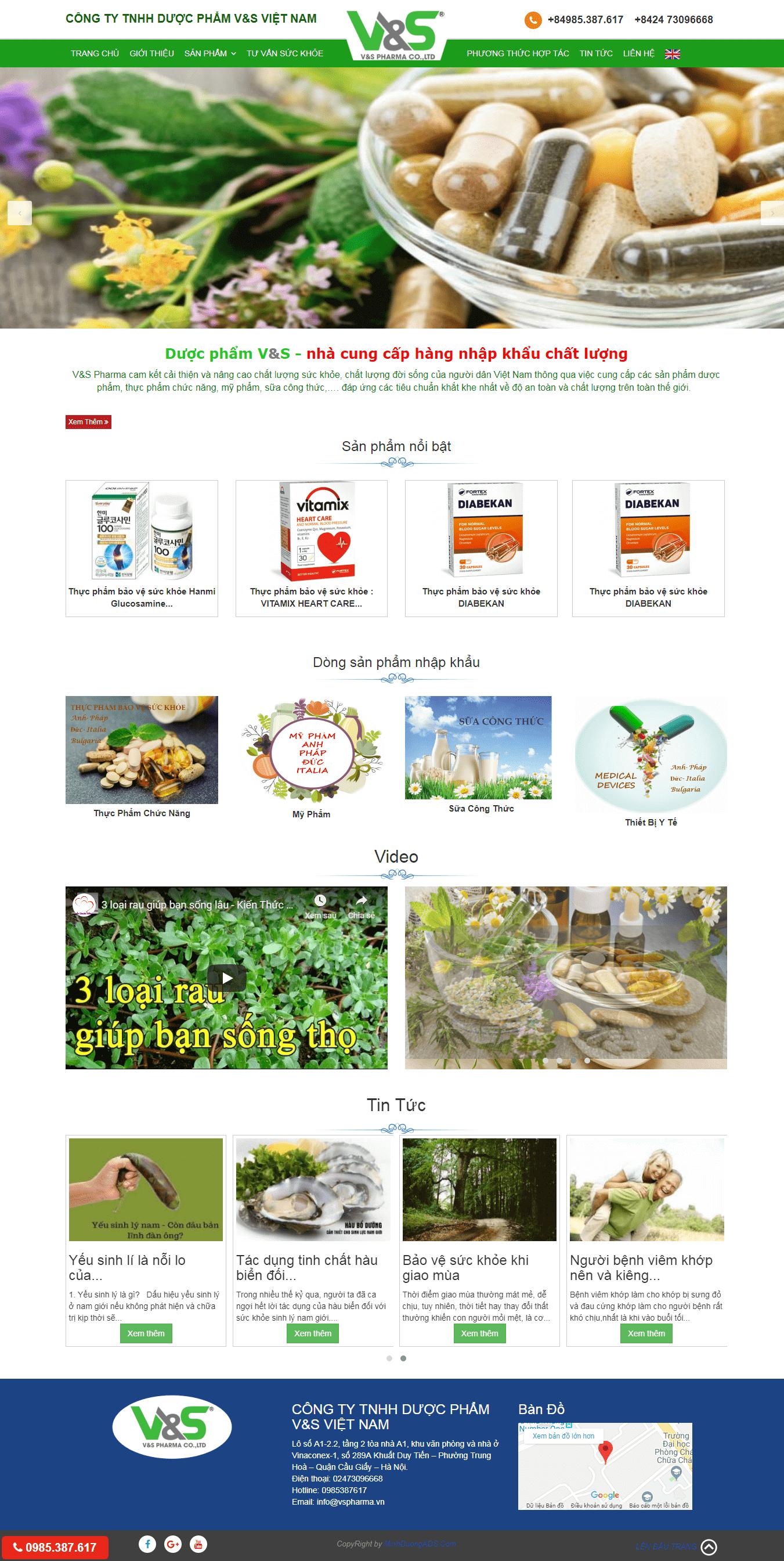 thiết kế website dược phẩm chuyên nghiệp
