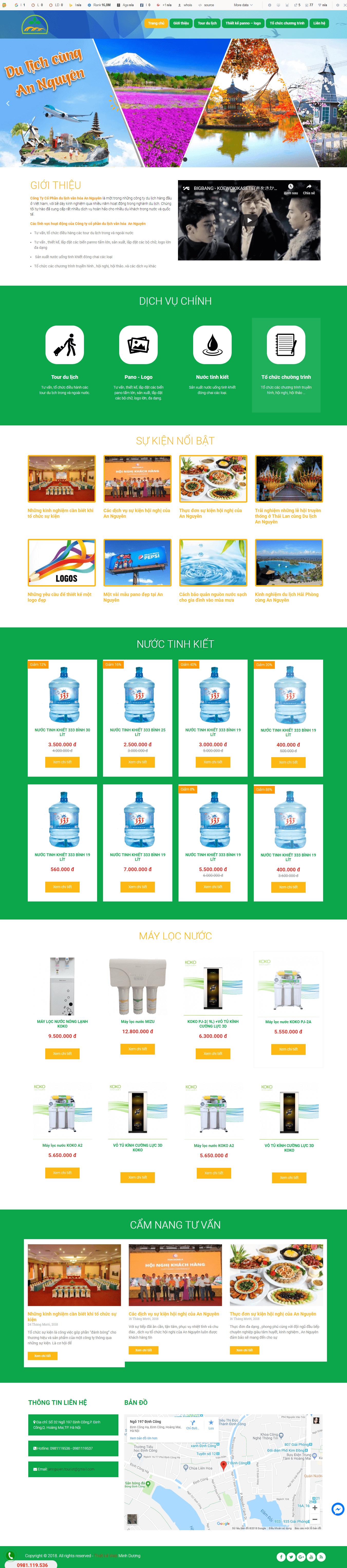 thiết kế website bán nước tinh khiết