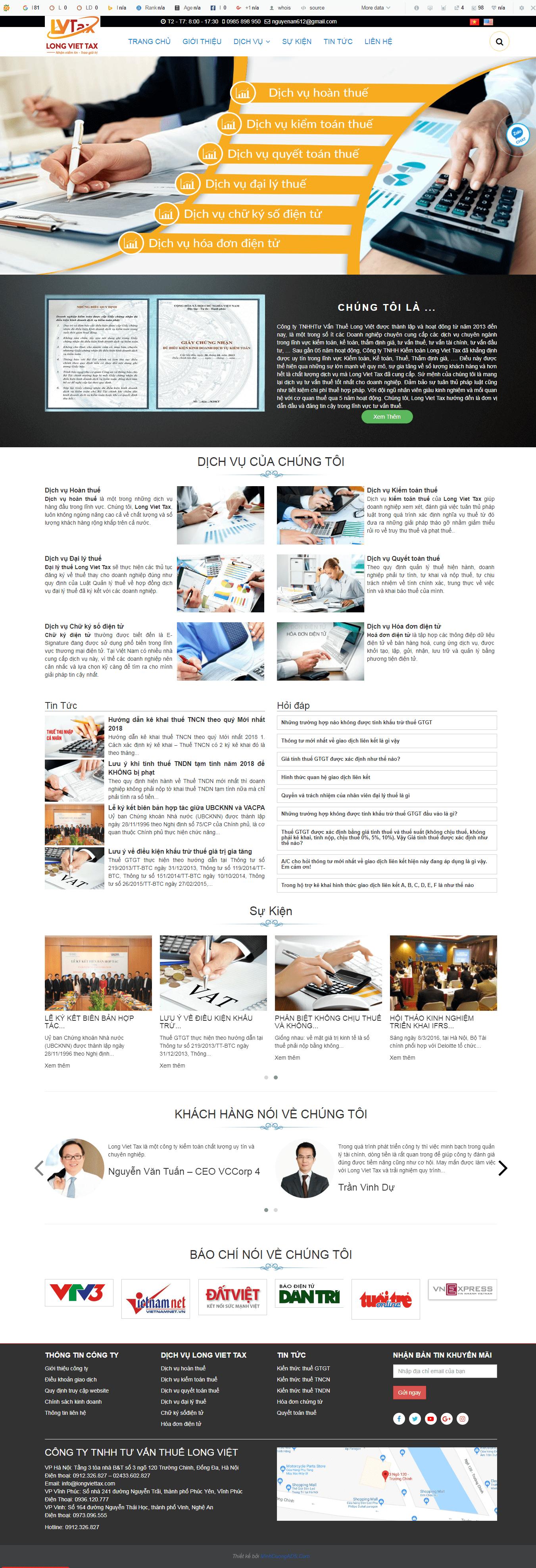 thiết kế website tư vấn thuế