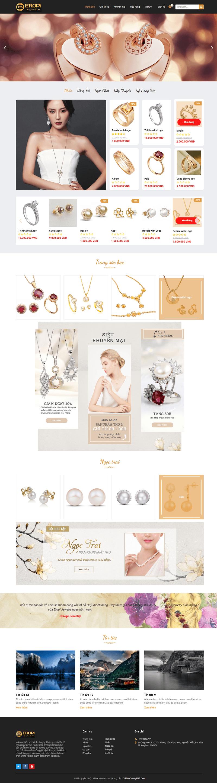 Thiết kế website bán đồ trang sức đẹp đẹp chuẩn seo