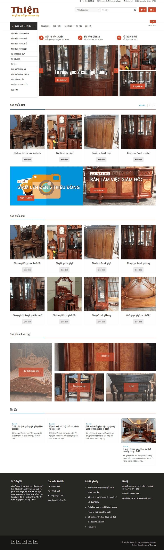 Thiết kế website đồ gỗ nội thất đẹp chuyên nghiệp chuẩn seo
