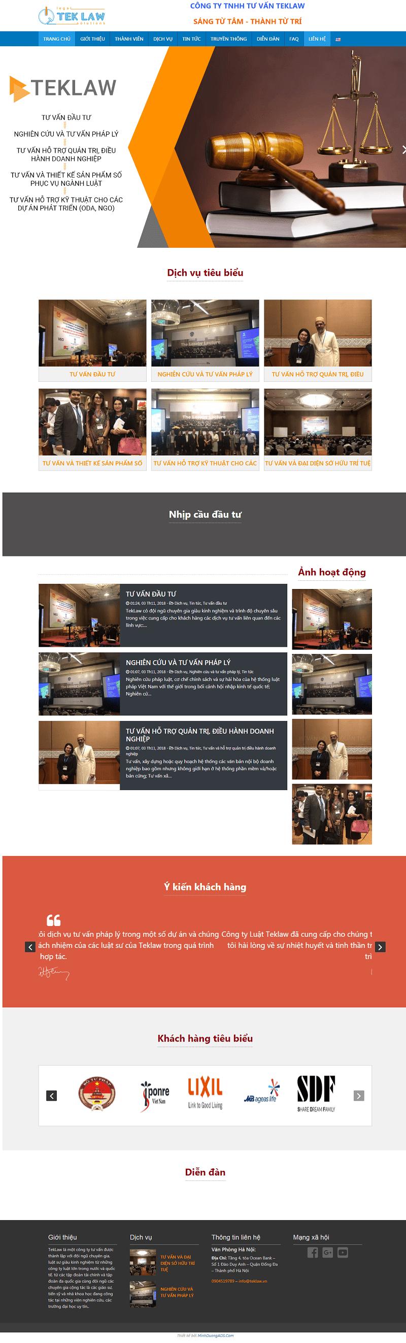 thiết kế website tư vấn luật
