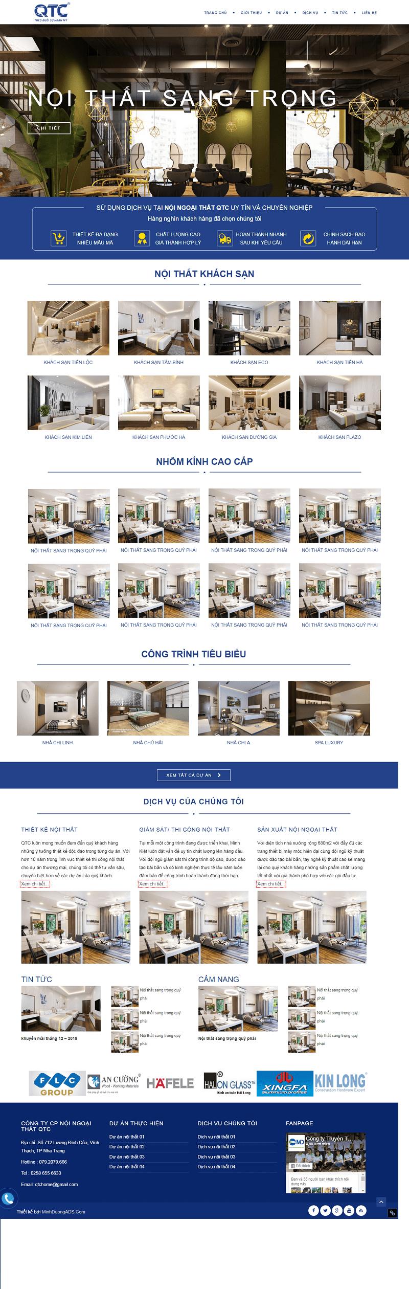 Thiết kế web tư vấn nội thất
