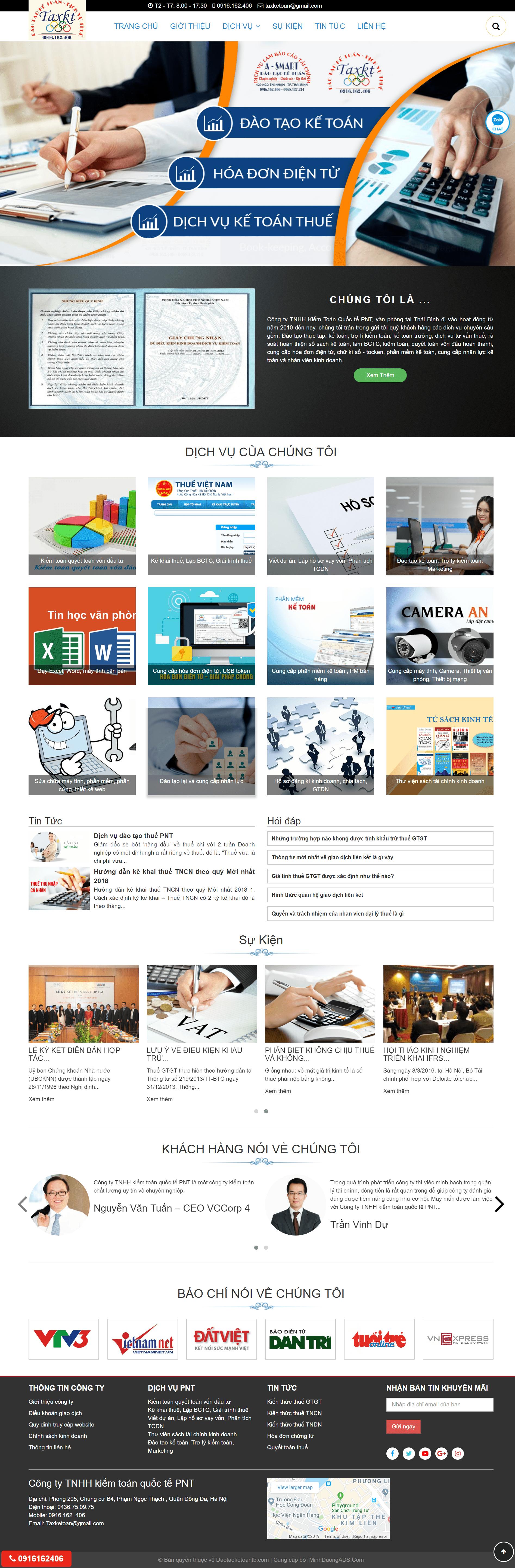 Thiết kế web đào tạo kế toán