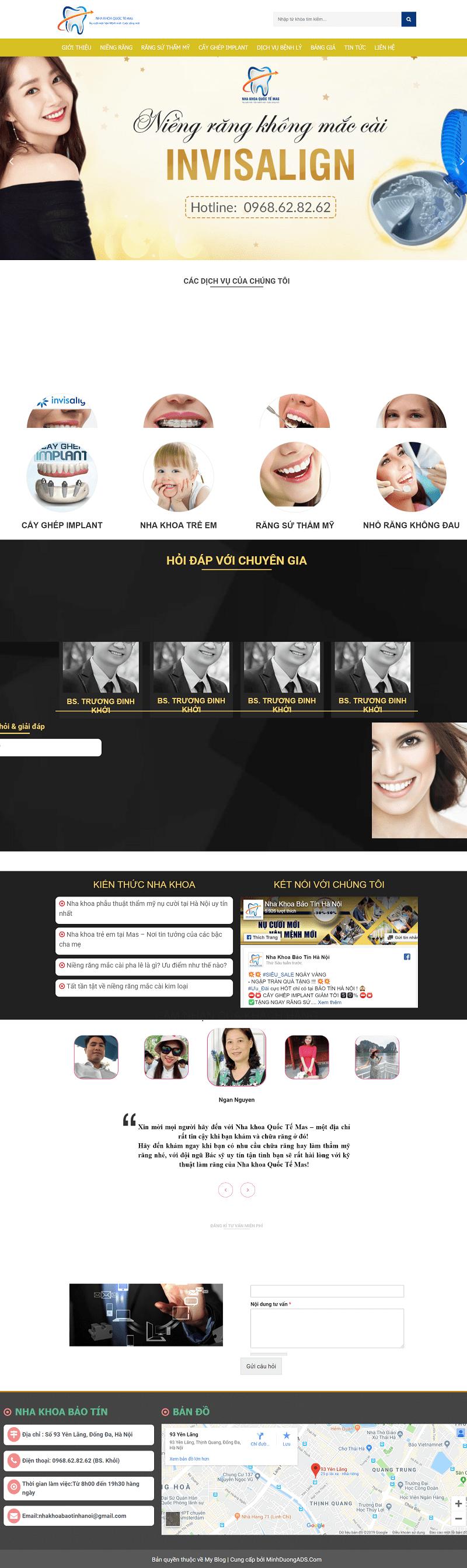 Thiết kế web nha khoa quốc tế mas