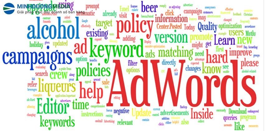 lựa chọn sai từ khóa khi quảng cáo google adwords