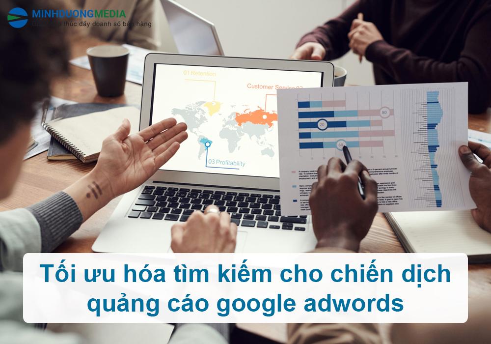 tối ưu tìm kiếm quảng cáo google adwords
