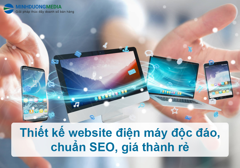 thiết kế web điện máy giá rẻ