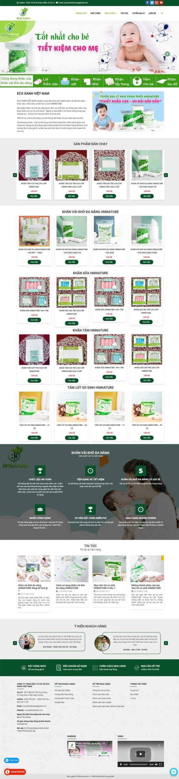 thiết kế web eco xanh Việt Nam
