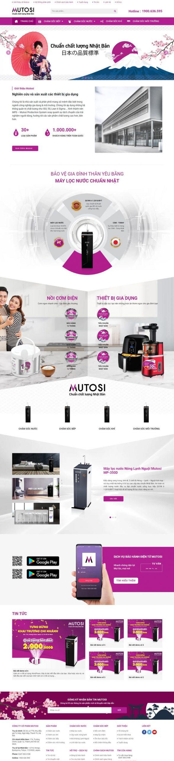 thiết kế web mutosi khôi nguyên