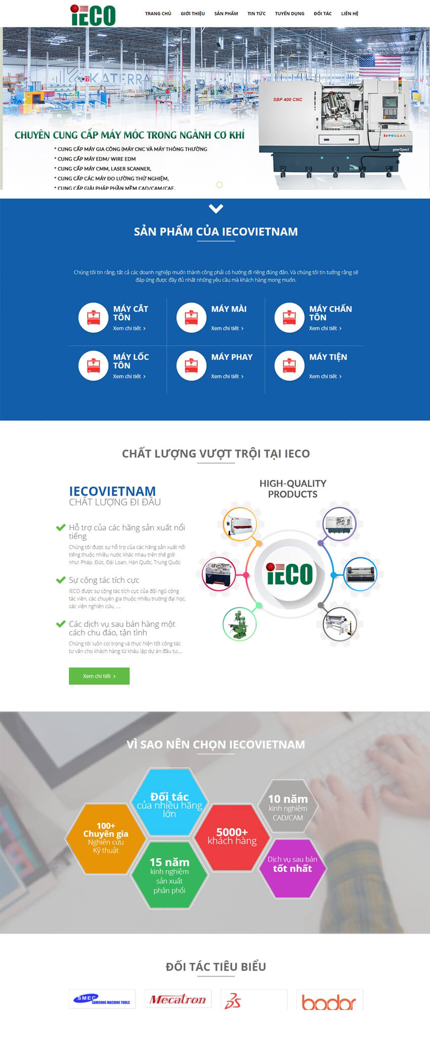 thiết kế web thiết bị máy móc IECO