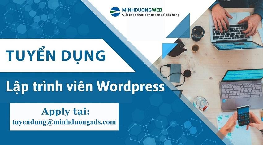 Tuyển dụng nhân viên lập trình web wordprees